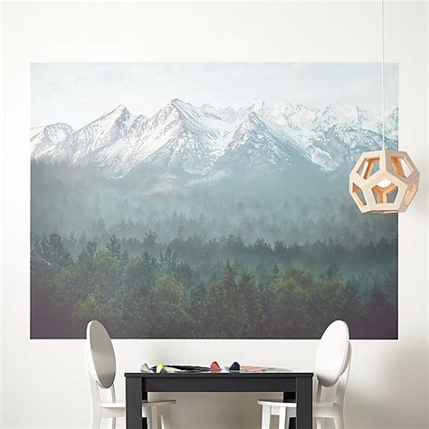 misty blue mountains mural decal reviews crate  barrel