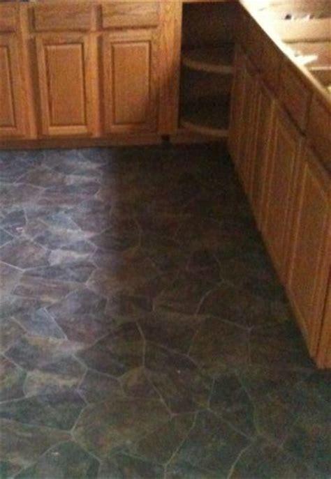 beautiful vinyl flooring   stone tile  kitchen