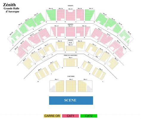 zenith plan salle united zenith d auvergne cournon le 5 nov 2017 concert
