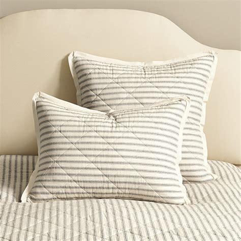 ticking stripe quilt ticking stripe quilted bedding ballard designs