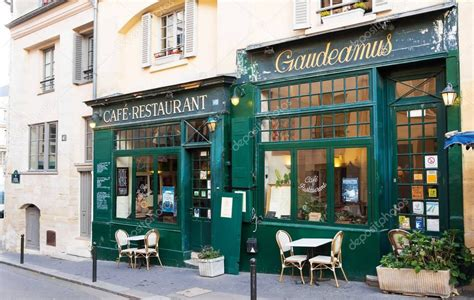 famous french cafe gaudeamusparis france stock