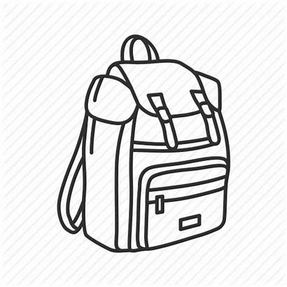 Travel Bag Backpack Luggage Carry Trip Icon