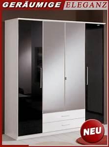 Kleiderschrank Schwarz Weiß : neu 180cm schlafzimmer kleiderschrank glanz schwarz wei schlafzimmerschrank ebay ~ Orissabook.com Haus und Dekorationen