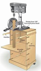 Benchtop Drill Press Stand Plans - WoodWorking Projects