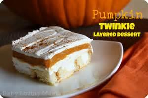 Pumpkin Twinkie Layered Dessert Recipe