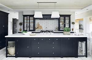 31 black kitchen ideas for the bold modern home With what kind of paint to use on kitchen cabinets for 3 piece black and white wall art