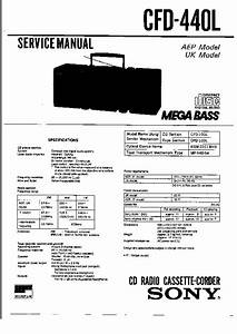 Sony Cfd-440 Service Manual