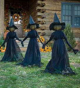 Lighted, Halloween, Witch, Stakes, Set, Of, 3