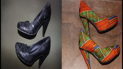 revamp shoes  fabric youtube