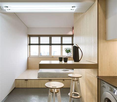 super compact spaces  minimalist studio apartment