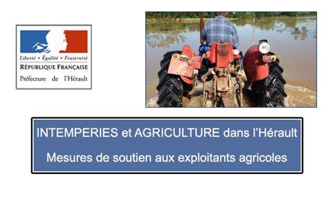 chambre agriculture herault actualités intemperies et agriculture dans l hérault