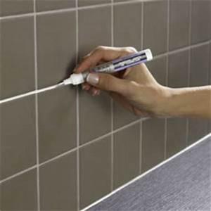Renover Joint Carrelage : r nover des joints carrelage avec le stylo peinture julien ~ Dallasstarsshop.com Idées de Décoration
