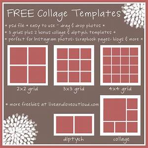 8 best images of printable collage templates free With free online photo collage templates