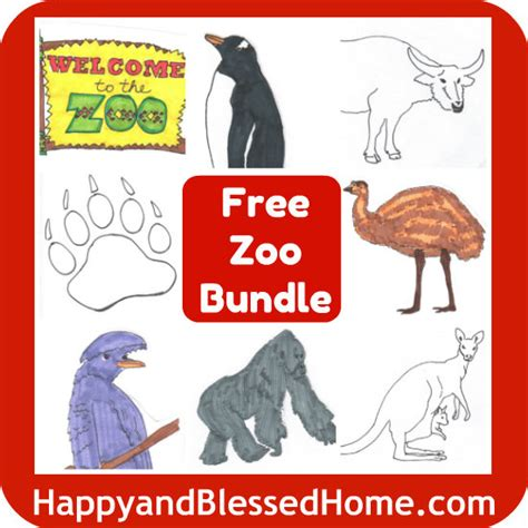printables zoo animals   happy  blessed home