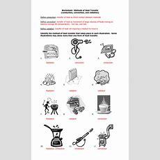 Heat Energy Transfer Worksheet  Heat Transfer Worksheet Worksheets Reviewrevitol Free