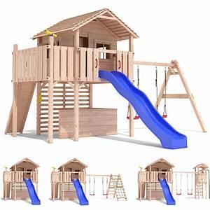 Spielhaus Garten Mit Rutsche : maximo spielturm baumhaus stelzenhaus schaukel kletterturm ~ Watch28wear.com Haus und Dekorationen