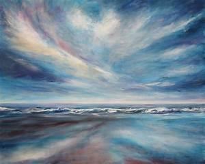 Bilder Vom Himmel : himmel ber dem meer meer acrylmalerei himmel welle von infarbe bei kunstnet ~ Buech-reservation.com Haus und Dekorationen