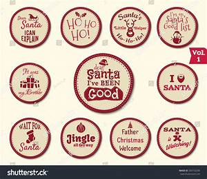 christmas labels stickers stamps badge design stock vector With christmas labels and seals