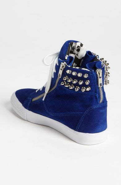 betsey johnson nxtlvl sneaker  blue blue suede lyst