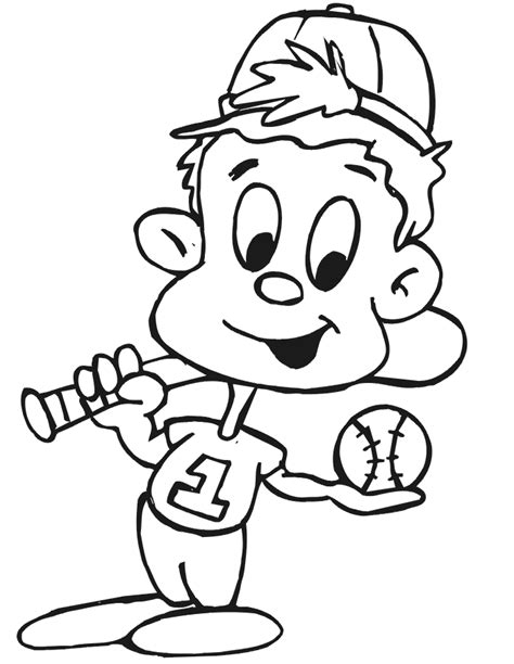 printable baseball coloring pages  kids