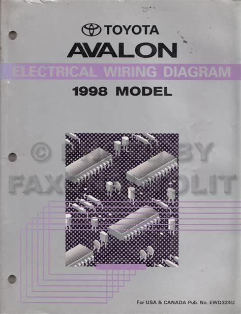 1998 Toyotum Avalon Wiring Diagram by 1998 Toyota Avalon Wiring Diagram Manual Original