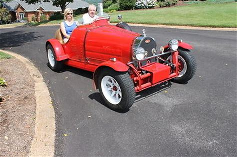 This is a beautifully constructed interpretation of a 1920's open wheel racer. 1927 Bugatti Racer Replica
