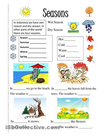 season worksheet free esl printable worksheets made by