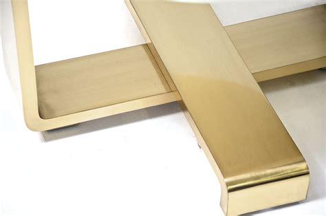 Etagere Table by Etagere Side Table Goatskin Brass Scala Luxury