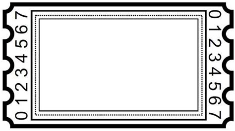blank ticket clipart ticket template  printables