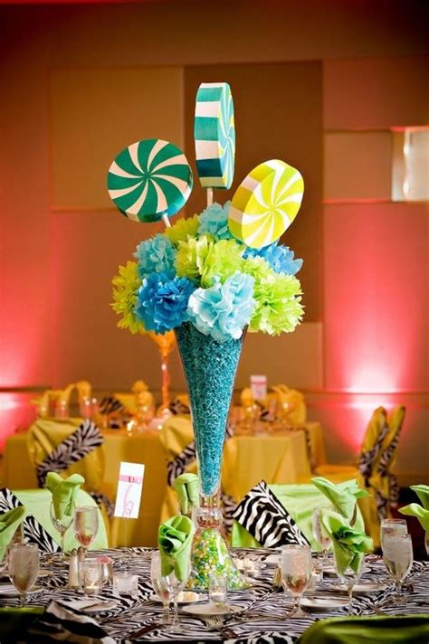 Sweet Table Vases by Theme Centerpiece Styrofoam Pops Tissue