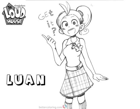 Loud House Coloring Pages lovely Luan fan art   Free