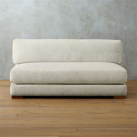 Cb2 Loveseat by Piazza Apartment Sofa Lindy Snow Cb2