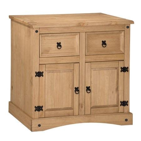 Corona Mexican Pine Sideboard by Corona Mexican Solid Pine 2 Door 2 Drawer Sideboard