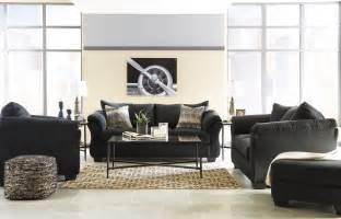 darcy black living room set  ashley coleman furniture