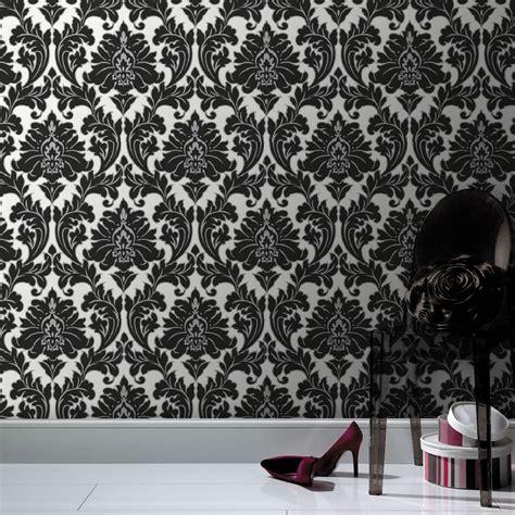 damask wall paper white wallpaper black wallpaper