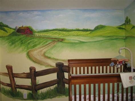 Kinderzimmer Wandgestaltung Bauernhof by Barn Farm Nursery Mural My Paintings Projects