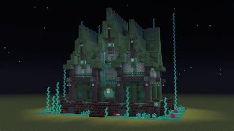 nether themed house minecraftbuilds