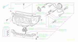 Subaru Forester Headlight Wiring Harness  Lamp  Unit  Hid