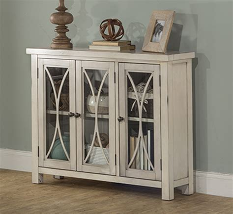 bayside cabinets bayside 3 door accent cabinet antique white hillsdale