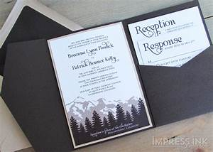 best compilation of mountain wedding invitations With wedding invitations with mountains