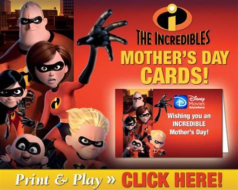 Maybe you would like to learn more about one of these? Disney Printable Mother's Day Cards   Disney printables, Mothers day cards, Disney incredibles