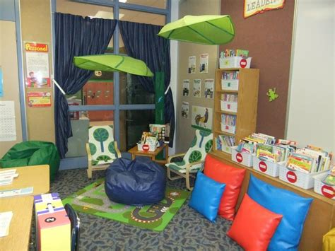 cozy classroom library reading corner forest ikea
