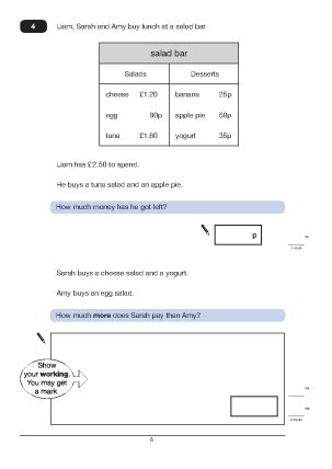 question 4 paper a 2010 maths worksheets for ks2 maths sat