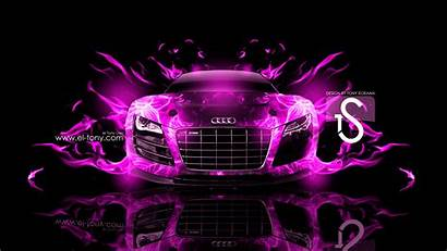 Audi Fire R8 Pink Wallpapers Abstract Skull