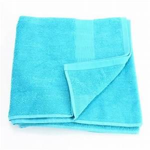 Lot De Serviette De Bain Destockage : serviette de bain 70 x 130 cm turquoise achat ~ Melissatoandfro.com Idées de Décoration