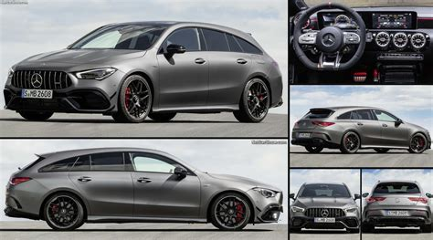 There are differences, but they're pretty subtle. Mercedes-Benz CLA45 S AMG 4Matic Shooting Brake (2020 ...