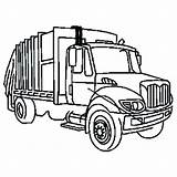 Truck Garbage Coloring Dump Snow Clipart Plow Ford Semi Trash Clip Outline Draw Drawing Trucks Diesel Cliparts Toy Sanitation Printable sketch template