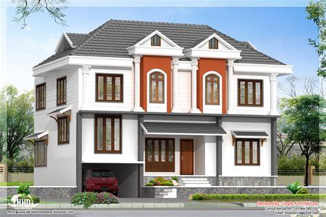house pla 2172 sq villa 3d view and floor plan home design plans