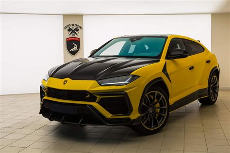 lamborghini urus yellow stealth carbon edition  topcar