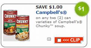 New $1 off Campbell's Chunky Soup Printable Coupon